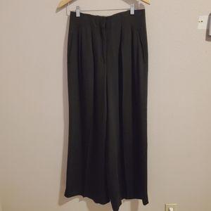 Vintage DKNY black wide leg wool pants
